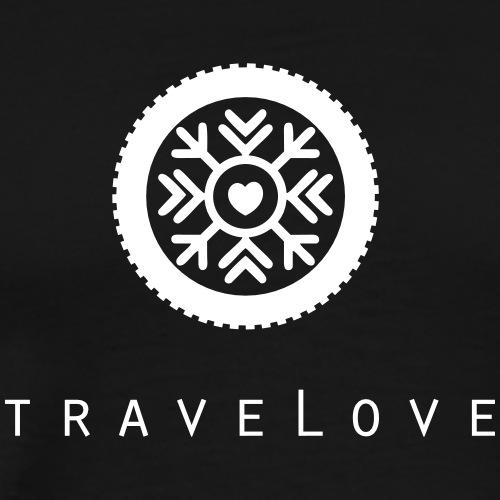 traveLove weißer Aufdruck - Männer Premium T-Shirt