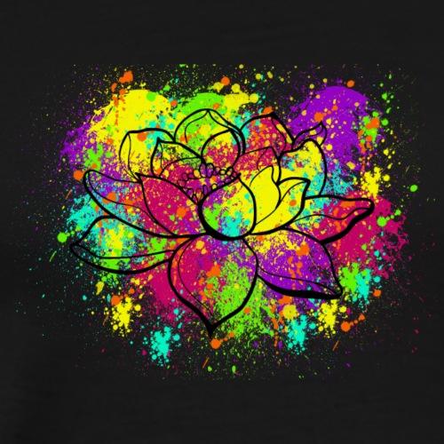 Splatter Lotus - Men's Premium T-Shirt