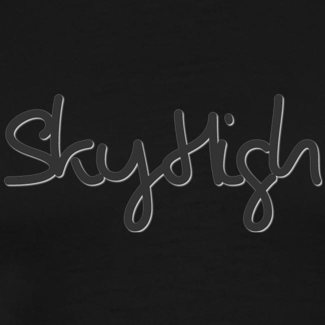 SkyHigh - Men's Premium Hoodie - Black Lettering