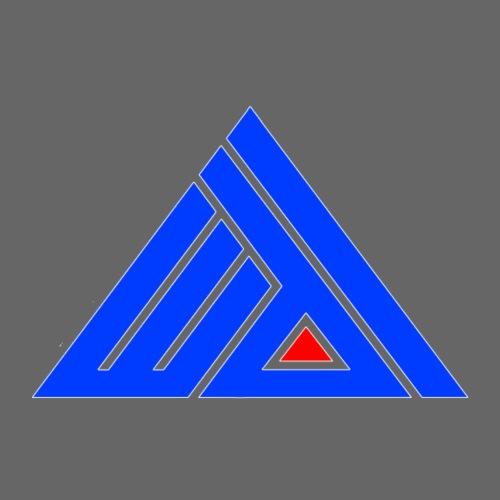 Edi Triangel Logo, Blue Red Pyramid - Mannen Premium T-shirt