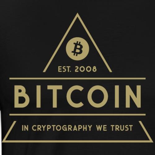 Bitcoin - Mannen Premium T-shirt
