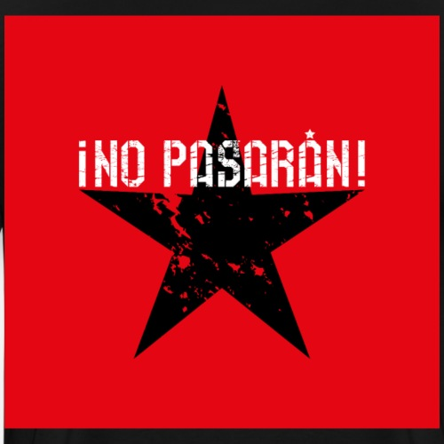 02 No Pasaran Stern Maske Mundschutz rot schwarz - Männer Premium T-Shirt