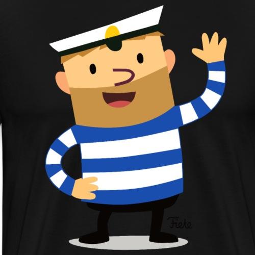 Großer Fiete winkt - Männer Premium T-Shirt