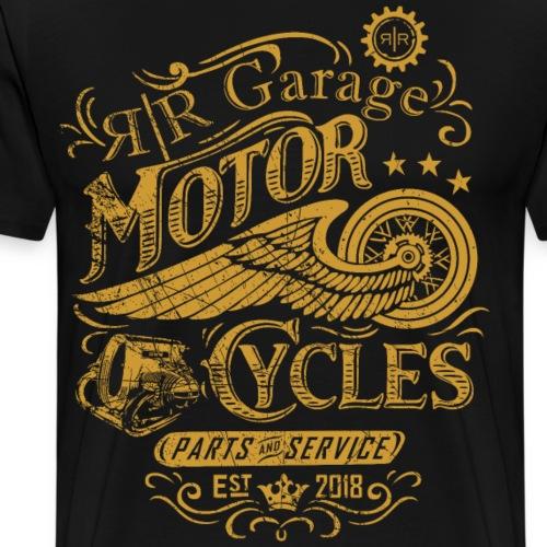 RR GARAGE GOLD EDITION - Maglietta Premium da uomo