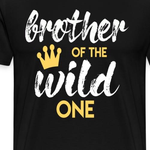 Brother of the Wild One Bruder Geschenk zum Baby - Männer Premium T-Shirt
