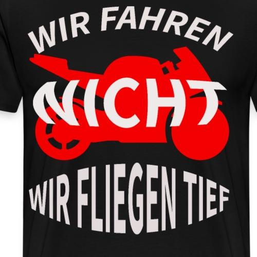 Cooles Motorrad Biker T-Shirt - Männer Premium T-Shirt