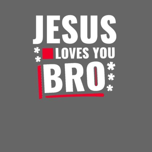 Jesus loves you Bro - Männer Premium T-Shirt