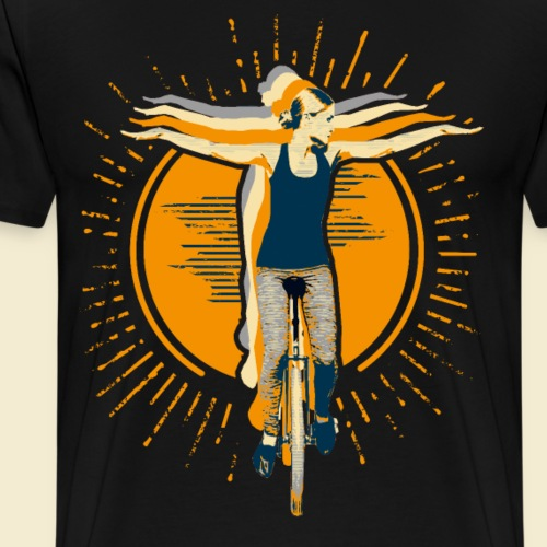 Einrad | Fly4You - Männer Premium T-Shirt