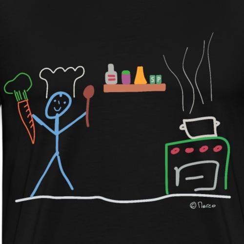Koch Strichmännchen, Arbeit Beruf Restaurant - Männer Premium T-Shirt