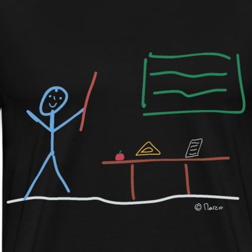 Lehrer Strichmännchen, Unterricht Beruf Job Arbeit - Männer Premium T-Shirt