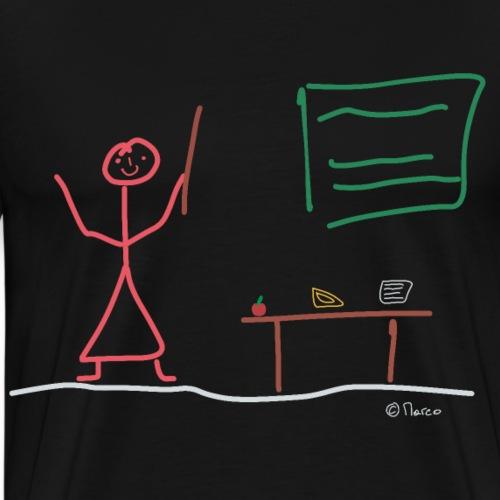 Lehrerin Strichmännchen, Frau Schule Unterricht - Männer Premium T-Shirt