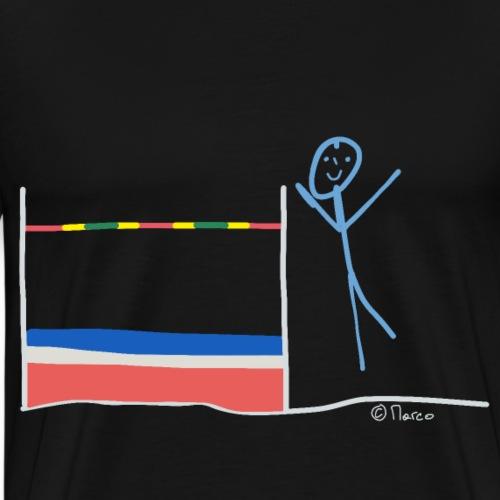 Hochsprung Strichmännchen, Sport Leichtathletik - Männer Premium T-Shirt