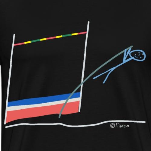 Stabhochsprung Strichmännchen Sport Hobby Freizeit - Männer Premium T-Shirt