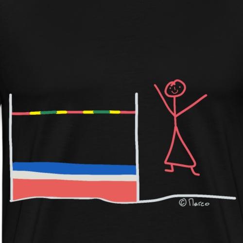 Hochsprung Strichmännchen, Athlet Frau Sport Team - Männer Premium T-Shirt