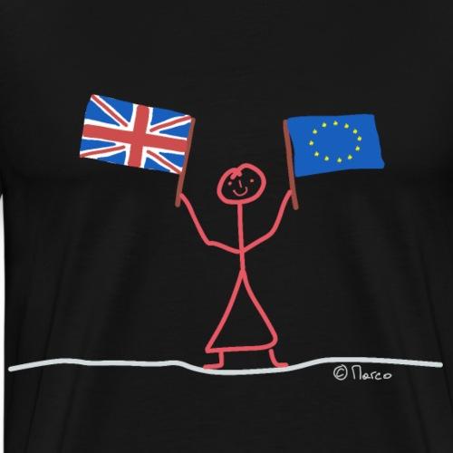 Brexit Gegner Strichmännchen, Frau EU Verbleiben - Männer Premium T-Shirt