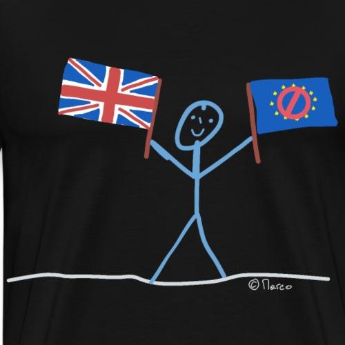 Pro Brexit Strichmännchen, für EU Austritt Politik - Männer Premium T-Shirt