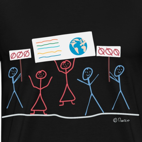 Demonstration Strichmännchen Klima Natur Umwelt - Männer Premium T-Shirt