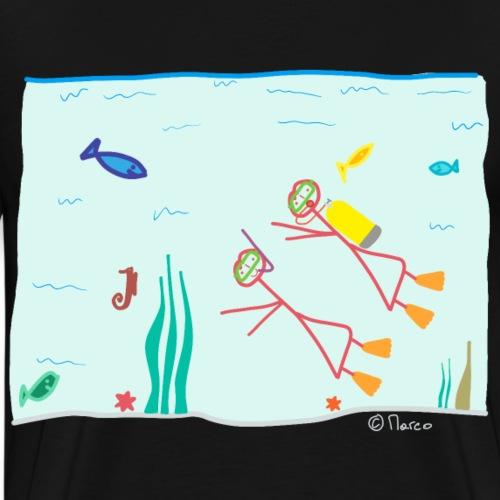 Strichfrau Frau Tauchen Sport Hobby Meer Hobby tun - Männer Premium T-Shirt