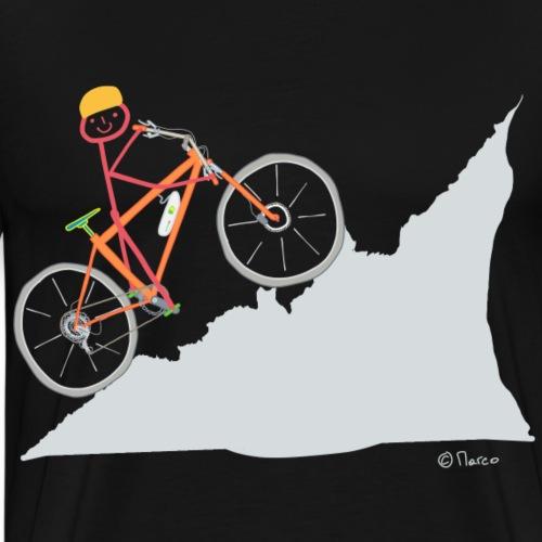 E Bike Strichmännchen T-shirt Frau Fahrrad Mtb - Männer Premium T-Shirt