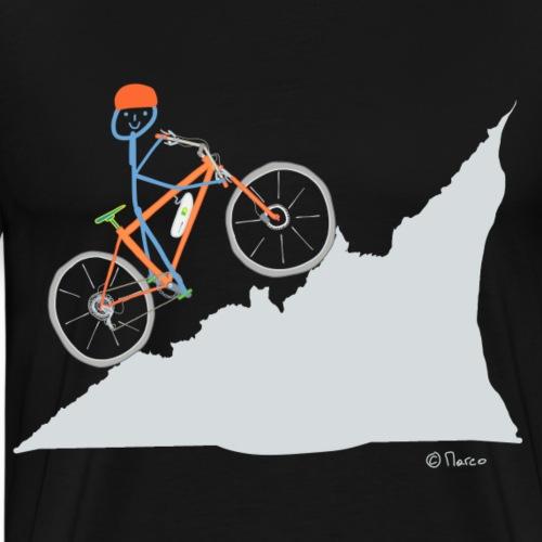 E Bike Strichmännchen T-shirt Sport Fahrrad fahren - Männer Premium T-Shirt