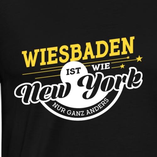 Wiesbaden ist wie New York nur ganz anders - Männer Premium T-Shirt