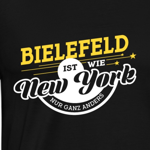 Bielefeld New York anders Stadt Heimat Geschenk - Männer Premium T-Shirt
