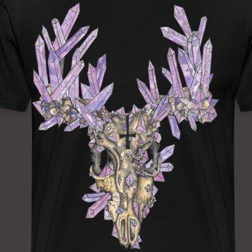 Le Cerf de Cristal Couleur - T-shirt Premium Homme