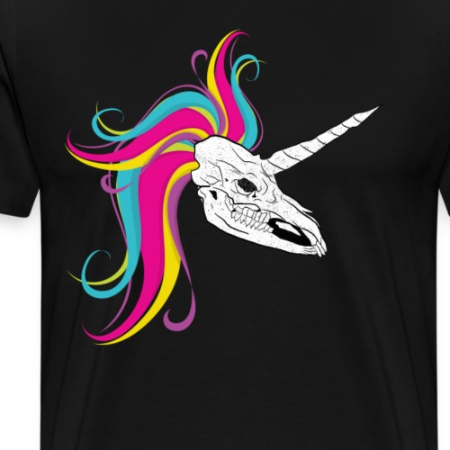 Einhorn - Licorne - Unicorn Schädel Skull - Männer Premium T-Shirt