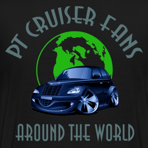 PT Cruiser around the world Blue - Männer Premium T-Shirt