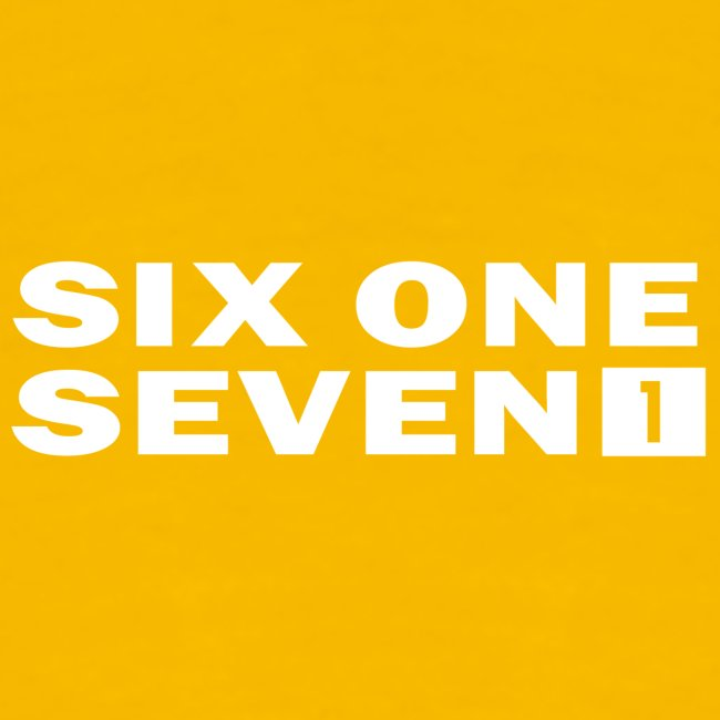 SIX ONE SEVEN 1 LUKSTA PNG WHITE png