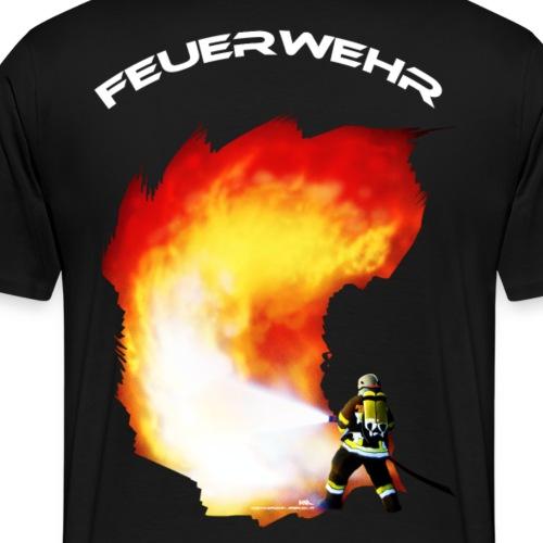 Inferno Feuerwehr mit weißem Schriftzug - Männer Premium T-Shirt