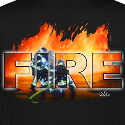 3 FW Männer Shirt FIRE.png - Männer Premium T-Shirt