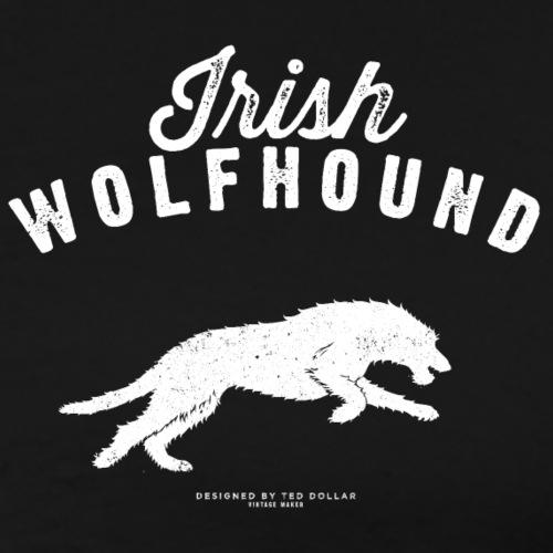 white Irish Wolfhound - T-shirt Premium Homme