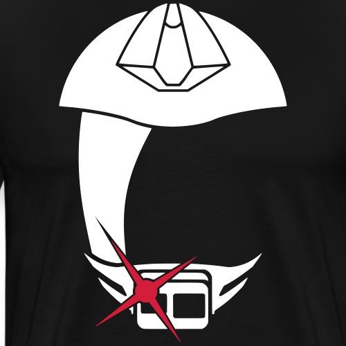 logo only vit - Premium-T-shirt herr