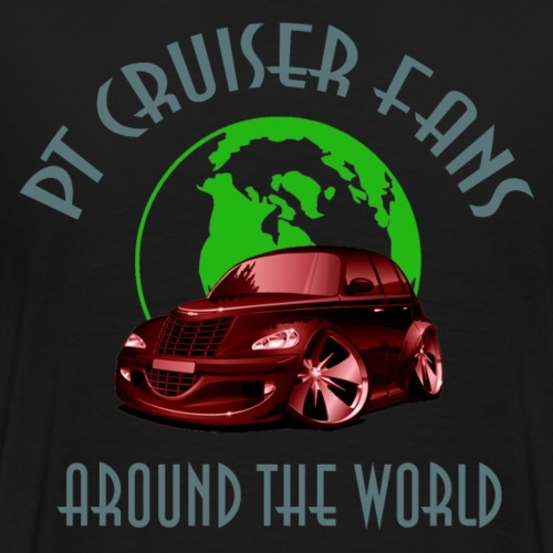 pt cruiser around the world2 red - Männer Premium T-Shirt