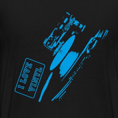 I Love Vinyl - blue - Men's Premium T-Shirt