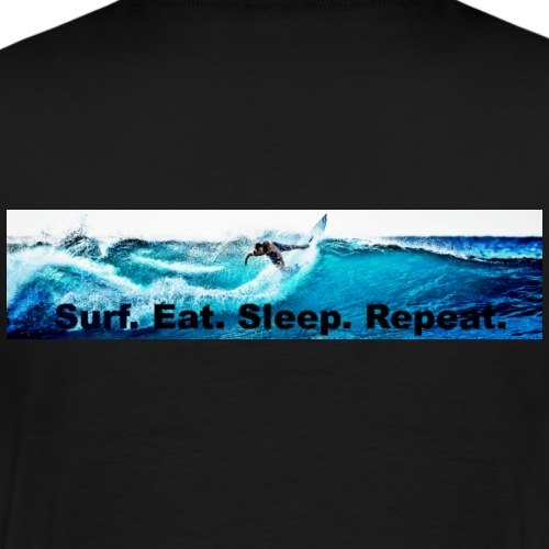 Surf.Eat.Sleep.Repeat. - Mannen Premium T-shirt