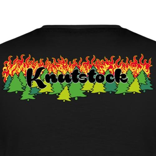 Knutstock Logo mit Wald - Männer Premium T-Shirt