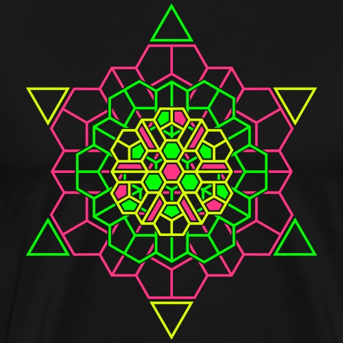 Cosmic Crystal Front - Mannen Premium T-shirt