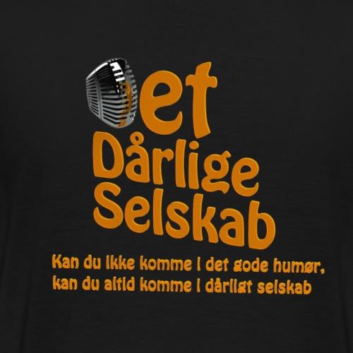 Det Dårlige Selskab orange logo - Herre premium T-shirt