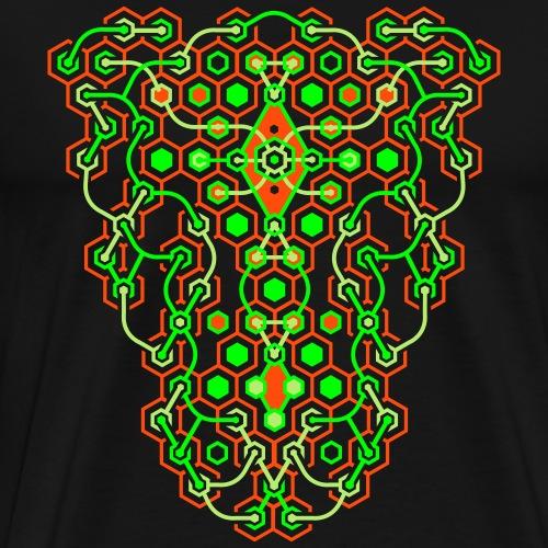 Cybertron Maze 2 Side Print - Men's Premium T-Shirt