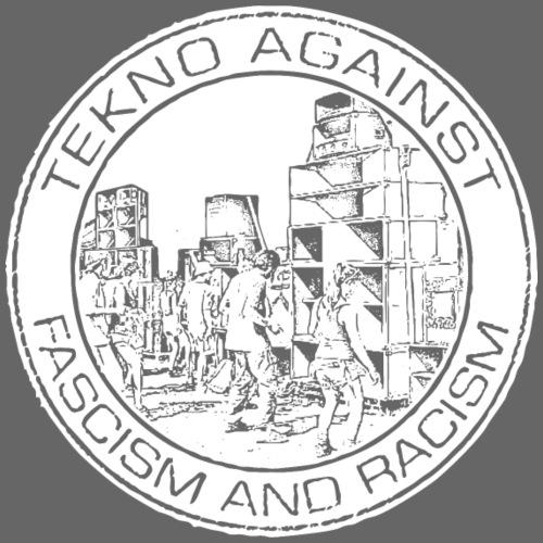 Tekno contra el fascismo y el racismo. - Camiseta premium hombre