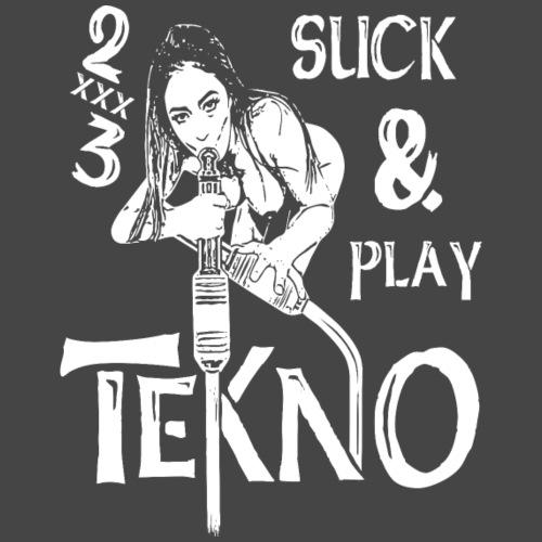 suck and play - only tekno 2xxx3 - Camiseta premium hombre