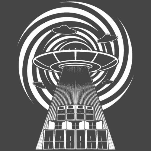 Alien Tekno 23 UFO frameless - Männer Premium T-Shirt