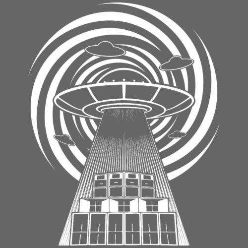 Alien Tekno 23 UFO sans cadre - T-shirt Premium Homme