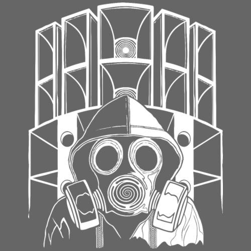 tekno maschera 23 gas - Maglietta Premium da uomo