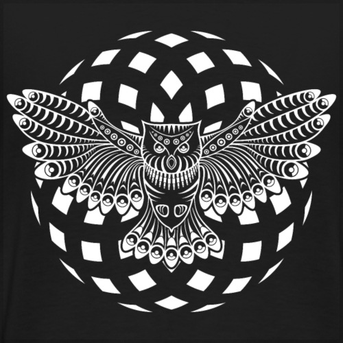 23 - 0099 - owl back - Men's Premium T-Shirt