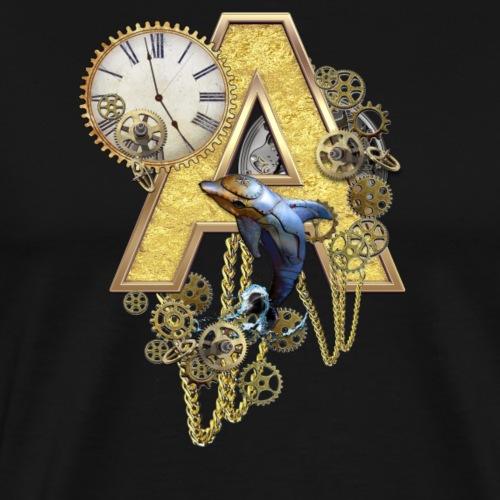 Alphabet-Capital A - Men's Premium T-Shirt
