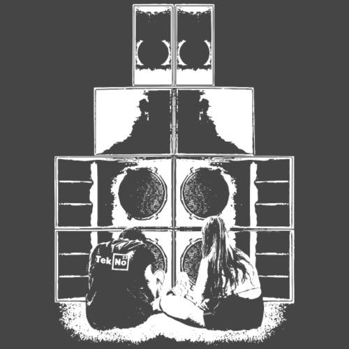 TEKNO 23 AMORE DEL SUONO SOUNDSYSTEM - Maglietta Premium da uomo