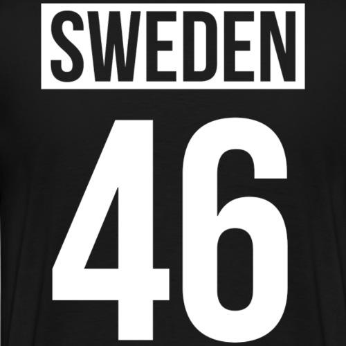 Sweden + Country Code - Premium-T-shirt herr